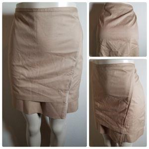 NWT White House Black Market Camel Short Skirt